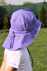 ROSTOUCÍ klobouček PAMPALÍNY, 100%Bavlna - FIALOVÁ