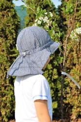 ROSTOUCÍ klobouček PAMPALÍNY, 100%Bavlna - KOSTIČKA modro/černo/bílá