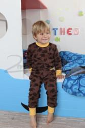 BAMBUS - Rostoucí pyžamo - ježek, auta, hvězdy, ještěrky - BA3GPY
