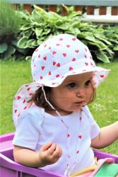 ROSTOUCÍ klobouček PAMPALÍNI, 100%Bavlna - SRDÍČKA