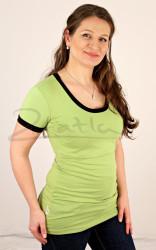 LETNÍ MERINO - tričko kr. ruk. - jednobarevé/barevný lem