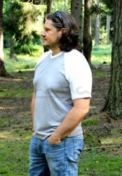 LETNÍ MERINO - Tričko, krátký raglan rukáv, výstřih V - MPLTVR072