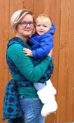 Überzieher / Booties - Merinowollfaser - Langhaar, gewebt in Baumwollstoff - für Kinder von 0-2 Jahren