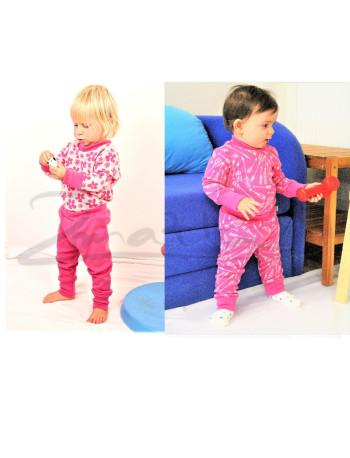 Rostoucí merino kalhoty/kamaše DVOJITÉ-OBOUSTRANNÉ - ŠÍPY na barevném podkladu - MERDGAK