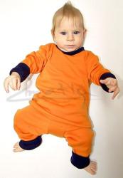 Rostoucí pyžamko z MERINA - JEDNOBAREVNÉ/bez vzoru - MERPYBEZ