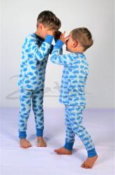Rostoucí pyžamko z MERINA - AUTA - MERPYZAUTZ