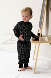 Rostoucí pyžamko z MERINA - FILIGRÁN na barevném podkladu - MERPYFI