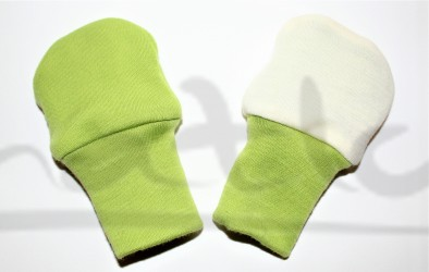 Dvojité oboustranné rukavičky -JEDNOBAREVNÉ/bez vzoru - MERDRUKBEZ