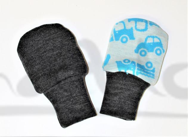 Dvojité oboustranné rukavičky - AUTA - MERDRUKAUZ