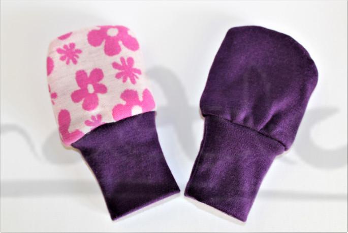 Dvojité oboustranné rukavičky - KYTIČKY - MERDRUKKYZ