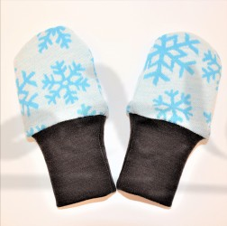 Dvojité oboustranné rukavičky - barevné VLOČKY na smetaně - MERDRUKVLZ
