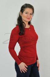 BAVLNA - 3v1 Kojící tričko, dl. ruk., MALÝ VÝSTŘIH - KI3TPMU70