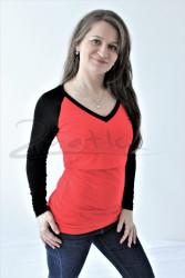 BAVLNA - 3v1 Kojící tričko, RAGLAN dl. ruk., výstřih ve tvaru V - KI3TPRV70