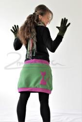 FLEECE - Těhotenská sukně efekt BALONEK s kočičkou- TSBLFK42