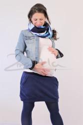 FLEECE - Těhotenská sukně efekt BALONEK - TSBLF42