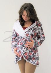 BAVLNA - Těhotenský teplý kabátek - TKAB3SVKYT80