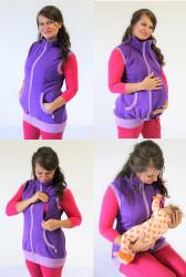 SILNÁ POČESANÁ TEPLÁKOVINA - těhotenská, kojící, normal VESTA - VPV75KTN