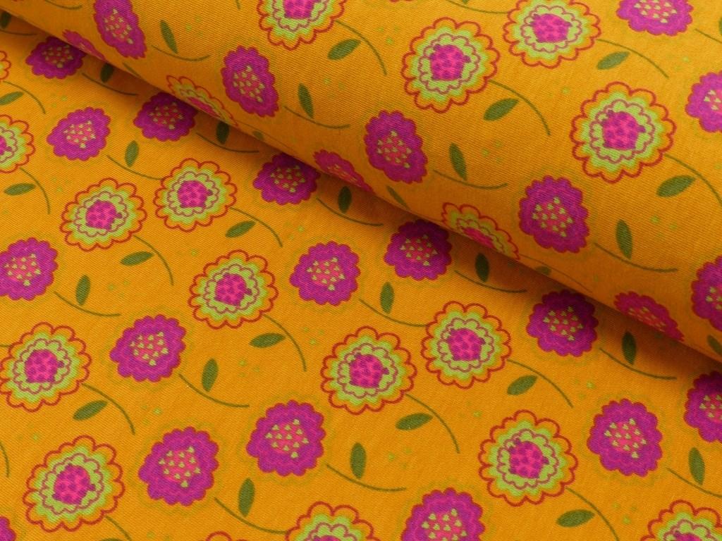 květiny v oranž